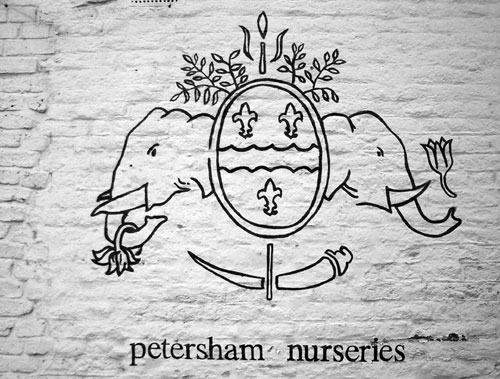 Petersham Nursery sign